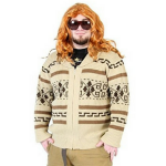 The Big Lebowski Jeffrey The Dude Zip Up Costume Cardigan Sweater Review!